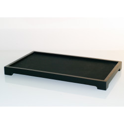 Black Bamboo Tray 370x220mm